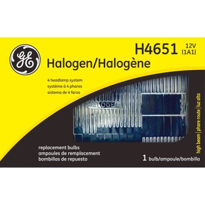 Picture of GE 4-Headlamp System High Beam Halogen Automotive Headlight
