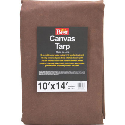 Picture of Do it Best 10 Oz. 10 Ft. x 14 Ft. Canvas Tarp