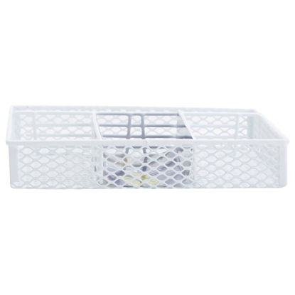 Picture of Grayline 10.25 In. x 14.5 In. x 2 In. White Handy Drawer Organizer Tray