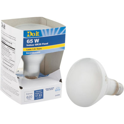 Picture of Do it 65W Frosted BR30 Reflector Incandescent Floodlight Light Bulb