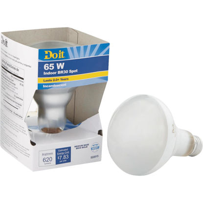 Picture of Do It 65W Frosted Medium BR30 Reflector Incandescent Spotlight Light Bulb