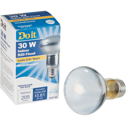 Picture of Do it 30W Frosted R20 Reflector Incandescent Floodlight Light Bulb