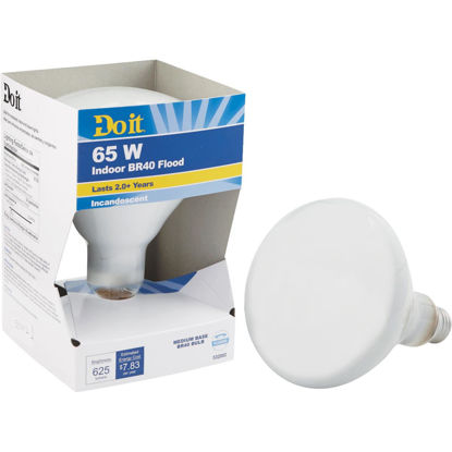 Picture of Do it 65W Frosted BR40 Reflector Incandescent Floodlight Light Bulb