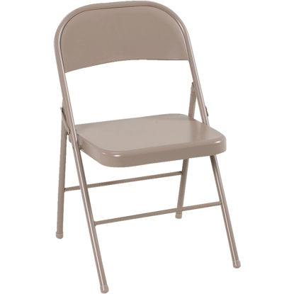 Picture of COSCO All Steel Folding Chair, Beige