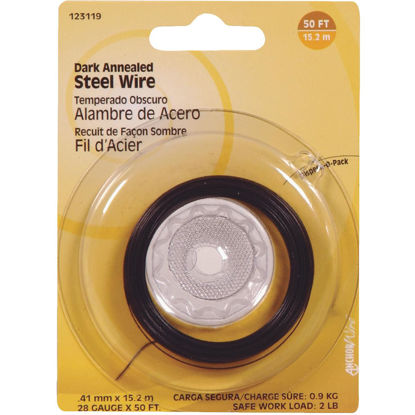 Picture of Hillman Fastener Corp 50 Ft. 28 Ga. Dark Annealed Steel Wire