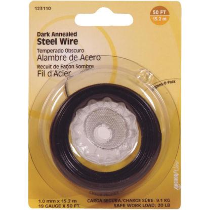 Picture of Hillman Fastener Corp 50 Ft. 19 Ga. Dark Annealed Steel Wire