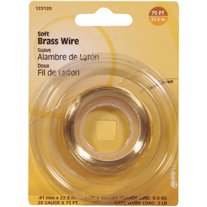 Picture of Hillman Fastener Corp 75 Ft. 28 Ga. Brass Wire