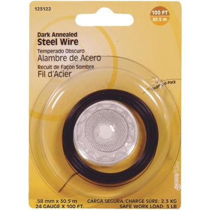 Picture of Hillman Fastener Corp 100 Ft. 24 Ga. Dark Annealed Steel Wire