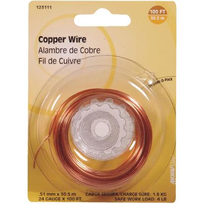 Picture of Hillman Fastener Corp 100 Ft. 24 Ga. Copper Wire