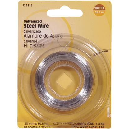 Picture of Hillman Fastener Corp 100 Ft. 32 Ga. Galvanized Steel Wire