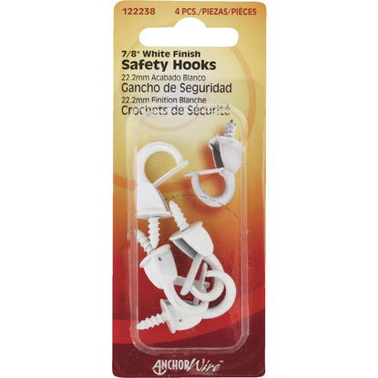 Picture of Hillman Anchor Wire 7/8 In. White Spring Safety Hook