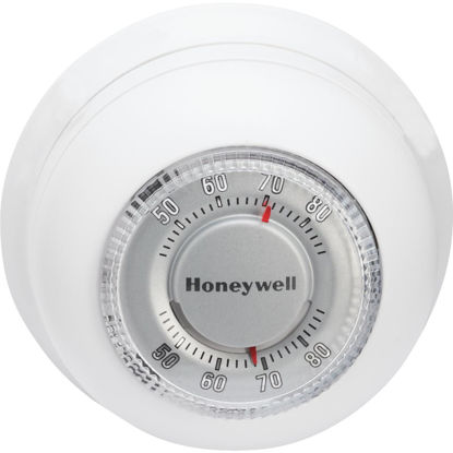 Picture of Honeywell Heat Only 40 F to 90 F Off White Round Wall Thermostat