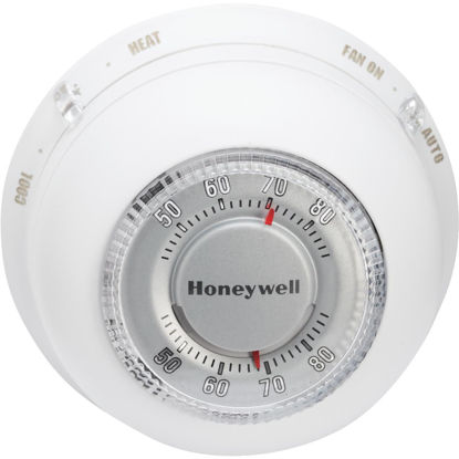 Picture of Honeywell Heat or Cool 40 F to 90 F Off White Round Wall Thermostat