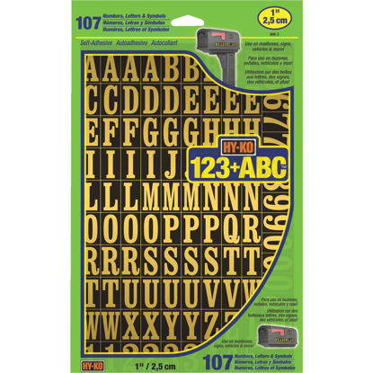 Picture of Hy-Ko 1 In. Numbers, Letters & Symbols (107 Count)