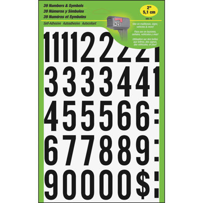 Picture of Hy-Ko 2 In. Polyester Adhesive Number Set, 33 Numbers