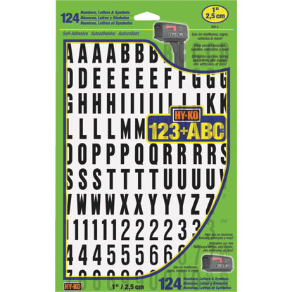 Picture of Hy-Ko 1 In. Numbers, Letters & Symbols (124 Count)
