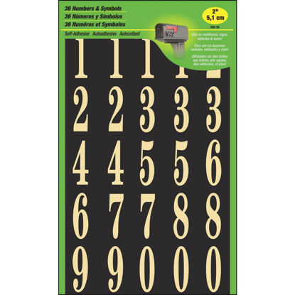 Picture of Hy-Ko 2 In. Polyester Adhesive Number Set, 25 Numbers
