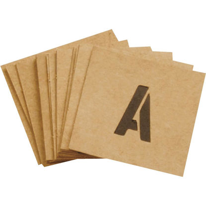 Picture of Hy-Ko 1 In. Letter, Number & Symbol Stencil Set
