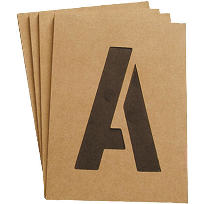 Picture of Hy-Ko 2 In. Letter, Number & Symbol Stencil Set