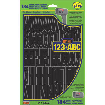 Picture of Hy-Ko 2 In. Black Vinyl Letters, Numbers & Symbols (184 Count)
