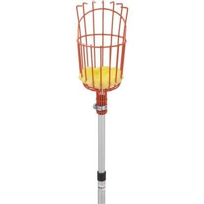 Picture of Best Garden Basket w/ Long Handle Enameled Steel Aluminum Fruit Picker