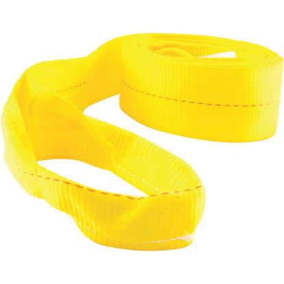 Picture of Erickson 2 In. x 20 Ft. 4500 Lb. Polyester Tow Strap with Loops, Yellow
