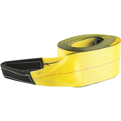 Picture of Erickson 3 In. x 30 Ft. 7500 Lb. Polyester Tow Strap with Loops, Yellow