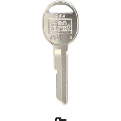 Picture of Do it Best GM Nickel Plated Automotive Key, B51 (10-Pack)