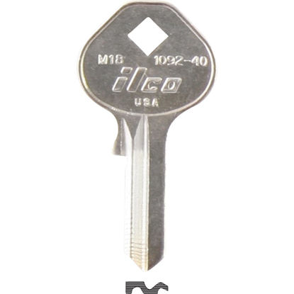 Picture of ILCO Master Nickel Plated Padlock Key, M18 (10-Pack)