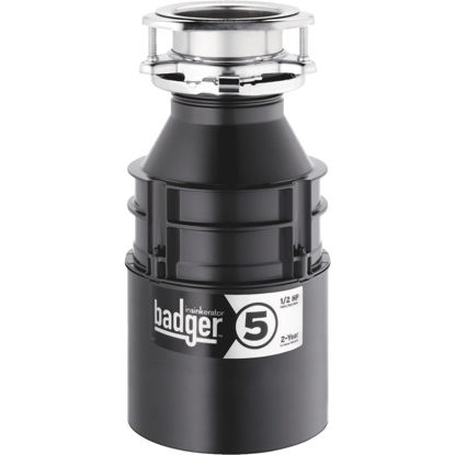 Picture of Insinkerator Badger 1/2 HP Garbage Disposal, 2 Year Warranty