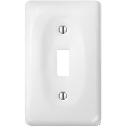 Picture of Amerelle 1-Gang Ceramic Toggle Switch Wall Plate, White