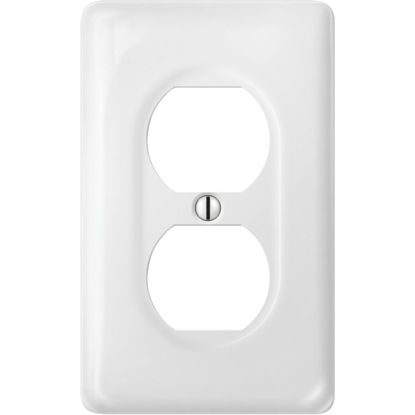 Picture of Amerelle 1-Gang Ceramic Outlet Wall Plate, White