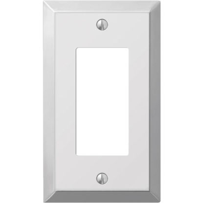 Picture of Amerelle 1-Gang Stamped Steel Rocker Decorator Wall Plate, Polished Chrome