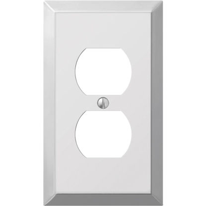 Picture of Amerelle 1-Gang Stamped Steel Outlet Wall Plate, Polished Chrome