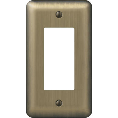 Picture of Amerelle 1-Gang Stamped Steel Rocker Decorator Wall Plate, Brushed Brass
