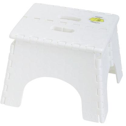 Picture of E-Z Foldz 9 In. White 1-Step Folding Step Stool