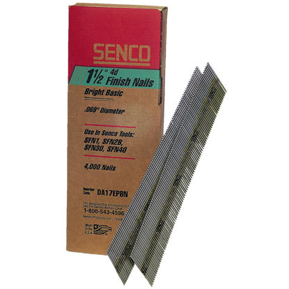 Picture of Senco 15-Gauge Bright 34 Degree Angled Finish Nail, 1-1/2 In. (4000 Ct.)
