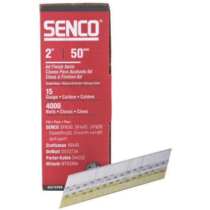 Picture of Senco 15-Gauge Bright 34 Degree Angled Finish Nail, 2 In. (4000 Ct.)