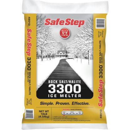 Picture of Safe Step 3300 10 Lb. Rock Salt/Halite Ice Melt Large Pellets