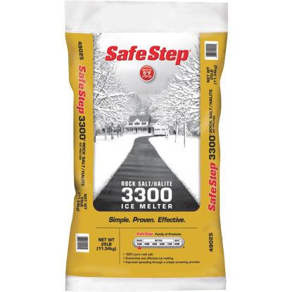 Picture of Safe Step 3300 25 Lb. Rock Salt/Halite Ice Melt Large Pellets
