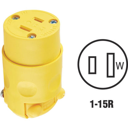 Picture of Leviton 15A 125V 2-Wire 2-Pole Residential Grade Cord Connector