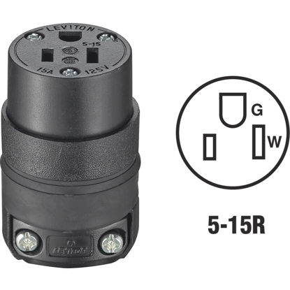 Picture of Do it 15A 125V 3-Wire 2-Pole Rough Use Cord Connector