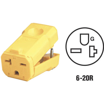 Picture of Leviton 20A 250V 3-Wire 2-Pole Python Cord Connector