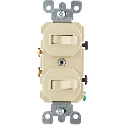 Picture of Do it Best Single Pole Ivory 15A Duplex Switch