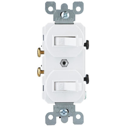 Picture of Do it Best Single Pole White 15A Duplex Switch