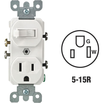 Picture of Do it Best White 15A Switch & Outlet