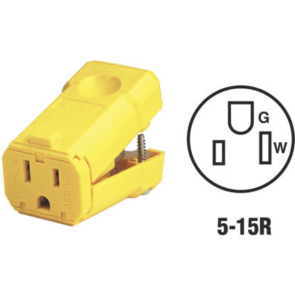 Picture of Leviton 15A 125V 3-Wire 2-Pole Python Cord Connector