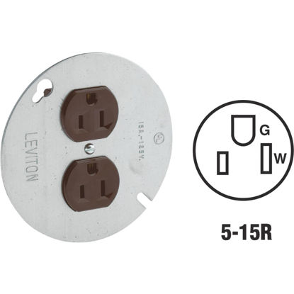 Picture of Leviton 4 In. Brown Round Box Cover