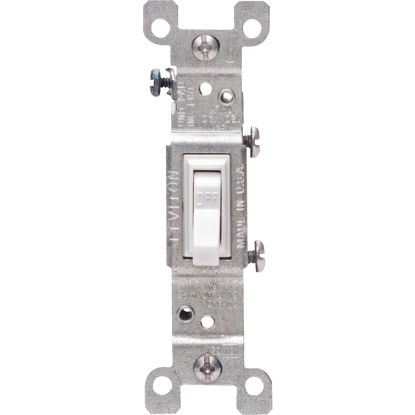 Picture of Do it Residential Grade 15 Amp Toggle Single Pole Switch, White