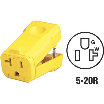 Picture of Leviton 20A 125V 3-Wire 2-Pole Python Cord Connector